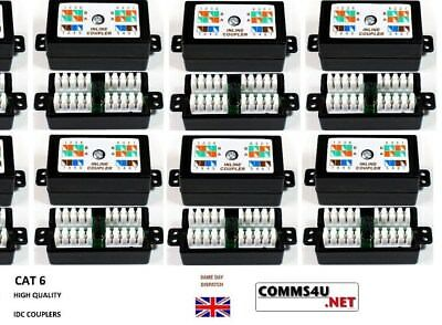 20 X CAT6 IDC 4 PAIR 8 WAY JUNCTION BOX INLINE CABLE COUPLER TERMINAL SOCKET 5e  • 36.99£