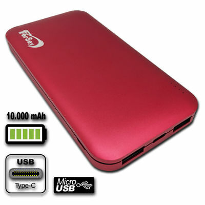 Drums External POWERBANK 10000 Mah Colour Red Accessories Computer • 34.42£