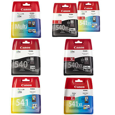 Canon 540/541 & 540XL/541XL Black And Colour Ink Cartridges For Pixma MG2150  • 20.40£
