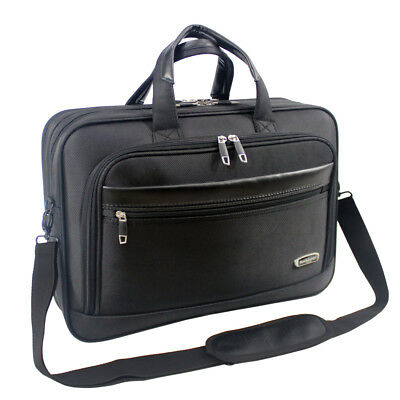 Mens Black Laptop Bag Briefcase Work Office Shoulder Bag High Quality 8208 • 19.95£