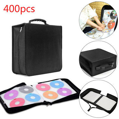 400 Sleeve CD DVD Ray Disc Carry Case Holder Protector Storage Bag Wallet Binder • 10.99£