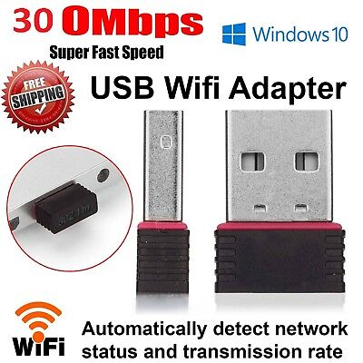 Mini USB Wifi Wirless Dongle Adapter 300 MBPS 802.11 Lan Network KR08EE Card UK • 4.49£