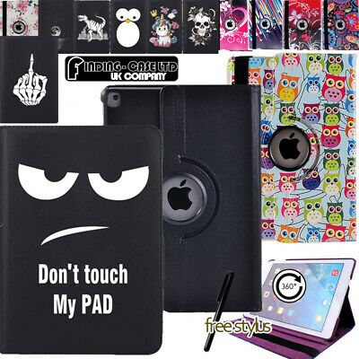 360° Rotating Leather Stand Case Cover For IPad/ IPad Mini/iPad Air/iPad Pro 9.7 • 5.99£