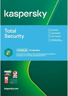 KASPERSKY TOTAL SECURITY 2021 10 PC DEVICE  MULTI DEVICE - Download • 28.99£