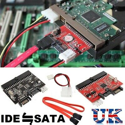 IDE 100/133 HDD CD DVD TO SATA Converter Adapter, SATA CABLE AND POWER CONNECTOR • 4.99£