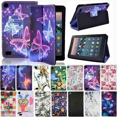 For Amazon Kindle Fire 7 / HD 8 / HD10 With Alexa Smart Leather Stand Cover Case • 5.79£