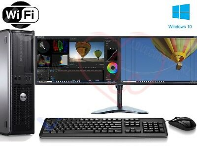 Fast Dell Dual Screen Pc Computer Desktop Tower Windows 10 8gb Ram 1000gb Hdd • 98.99£