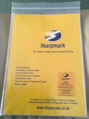 Sharpmark CL 16 - Slide-in Outlet Labels X 38 Sheets • 35£