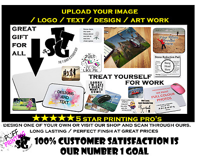 Personalised Custom Your Picture/ Logo Computer Mousemat Mouse Pad Rubber... • 2.99£