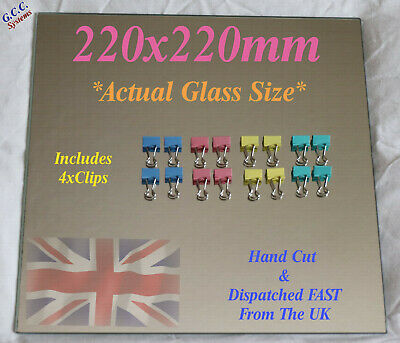 220 X 220mm Mirror Glass Plate For Heated 3D Printer Bed W Clips Creality Anet • 17.49£