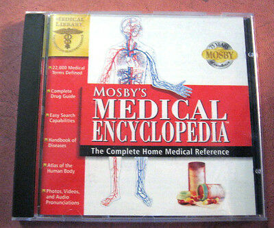 Monsby's Medical Encyclopedia Cd Complete Home Reference Medicine  Windows • 3.95£