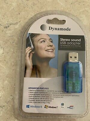 Dynamode Stereo Sound Usb Adapter 3d Sound • 4.99£