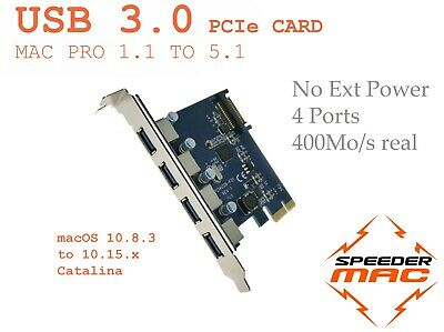  USB 3.0 Pcie Express Adapter Card 4 Port For Mac Pro 1.1>5.1 - 2006>2012 • 23.35£