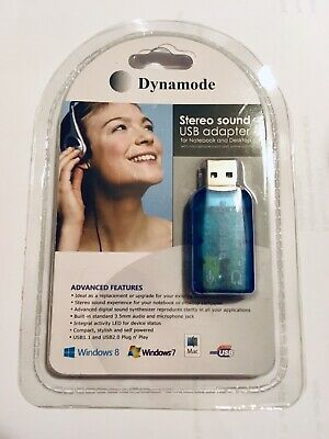 Dynamode Stereo Sound Usb Adapter . New Sealed. • 4.99£