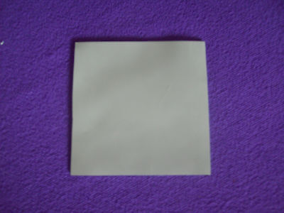 100MM X 100MM 10CM SQ. 1.5MM THICK GREY THERMAL SILICONE HEAT SINK TRANSFER PAD • 2.37£