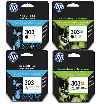Genuine HP 303 / 303XL Black And Colour Ink Cartridges For Envy Photo 6230 7130 • 21.60£