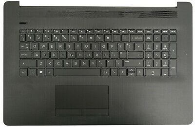 New HP 17-CA Black Palmrest Touchpad Cover UK QWERTY Keyboard L22751-031 • 59.95£