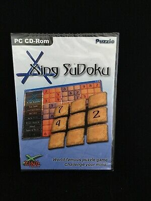 New & Sealed Xing Sudoku - PC CD-ROM Puzzle • 3£