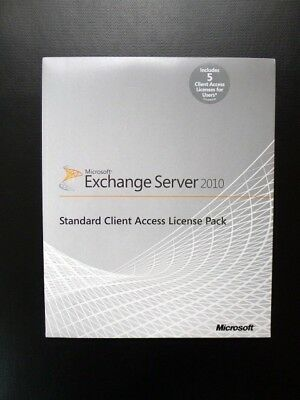 Microsoft Exchange Server 2010 5 CAL Standard Client Access License Pack NEW • 189£