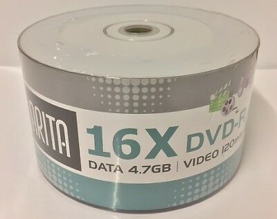 **NEW* 600 ARITA  16X DVD-R FULLFACE PRINTABLE  Brand New Stock Great Deal Price • 71.95£