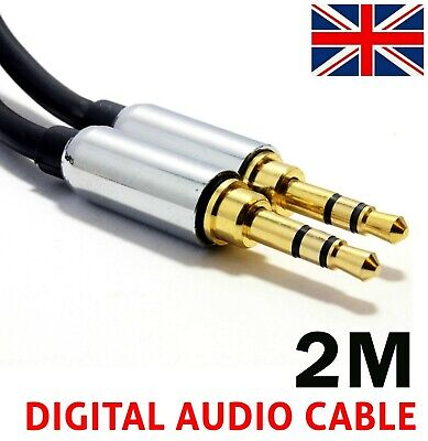 63.5mm Jack Audio Cable Jack 2m Male To Male Stereo Aux Cable For Car IPhone PC  • 2.19£