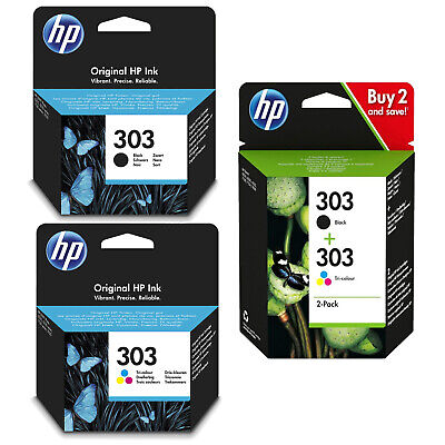HP 303 Black, Colour Or Combo Ink Cartridges For Envy Photo 6230 7130 7830 Print • 14.99£