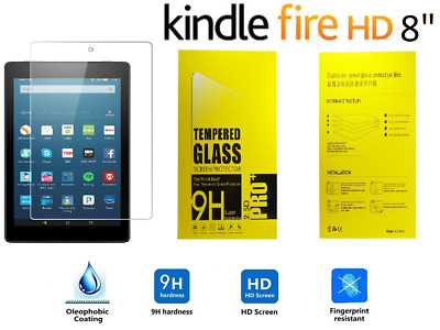 100% Genuine Tempered Glass Screen Protector For AMAZON KINDLE FIRE HD 8  Inch • 3.99£
