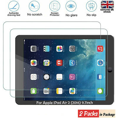 2PC Genuine Tempered Glass Screen Protector For Apple IPad Air 2 9.7 • 3.98£