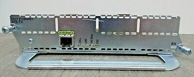 2 X  Cisco NM-1FE-TX Network Module (Fast Ethernet 1FE-TX) For Cisco Routers X 2 • 29.99£