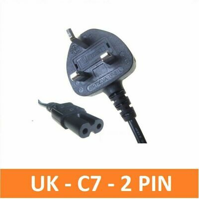 C7 2 Pin LAPTOP AC ADAPTER, CHARGER POWER LEAD, MAINS CABLE, CORD FIGURE 8 UK  • 3.99£