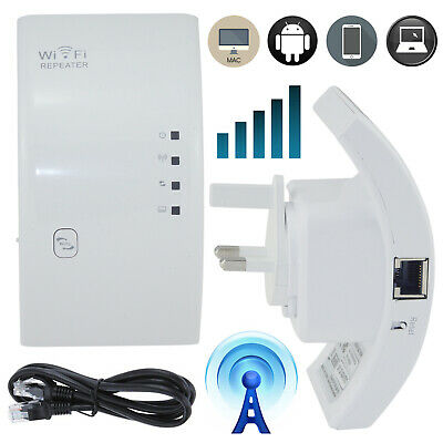 300 Mbps Wireless WiFi Signal Repeater Booster Router Range Extender WPS UK Plug • 17.65£