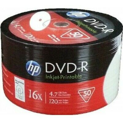 1200 HP Hewlett Packard, Fullface Printable DVD-R Packed 50s  Brand New Stock • 163.95£