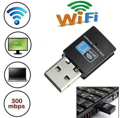 USB WiFi Dongle 802.11 B G N Wireless Network Adapter For Laptop PC UK • 3.33£