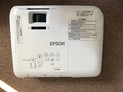 White High Definition Epson LCD Projector Wireless/HDMI H716B • 100£