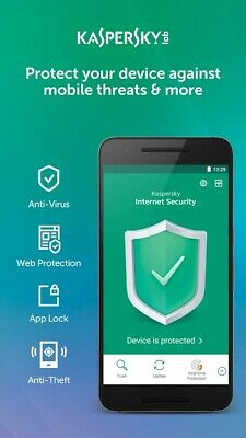 KASPERSKY INTERNET SECURITY 2020 FOR ANDROID - 1 DEVICE MOBILE TABLET - Download • 4.29£
