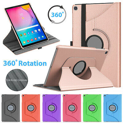 Samsung Galaxy Tab A 10.1  2019 T510 T515 Leather 360 Rotating Tablet Case Cover • 5.99£