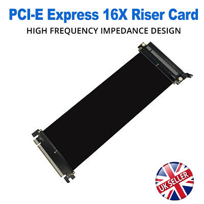 PCI-Express PCI-E3.0 16X Adapter Riser Graphic Card Flexible Extender Port Cable • 16.95£