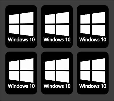 6x Windows 10 Stickers Decals For Laptops Computers • 1.69£