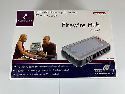 Sitecom Connectivity 6 Port Firewire Hub PC Or Notebook FW-009 Boxed • 49.99£