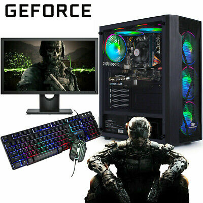 Fast Gaming PC Computer Bundle Intel Quad Core I5 16GB 1TB Win 10 2GB GT710 6FAN • 339.95£