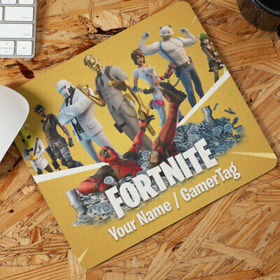 Fortnite Gamer Mouse Mat Personalised With Any Name/gamertag Deadpool Chapter 2 • 5.95£