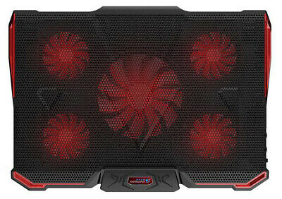 12 -17.3  Ultra Quiet Laptop Cooling Cooler Mat Pad Laptop Stand With 5 LED Fans • 20.99£