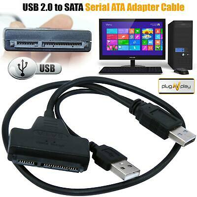 USB 3.0 To SATA 22 Pin 2.5 Inch Hard Disk Drive SSD Adapter Connector Cable Lead • 3.99£