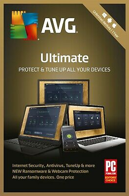 AVG ULTIMATE 2020, 10 Multi-Devices 1 Year (DOWNLOAD VERSION) PC | Mac | Android • 14.89£