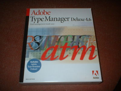 Adobe Type Manager Deluxe 4.6 • 11.50£
