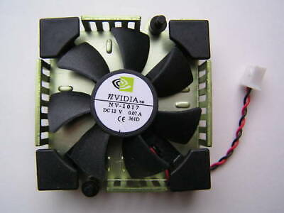 NVIDIA Fan NV-1017 12VDC  0.07A On 52mm X 52mm X12mm Heat Sink OL0378 • 3.99£