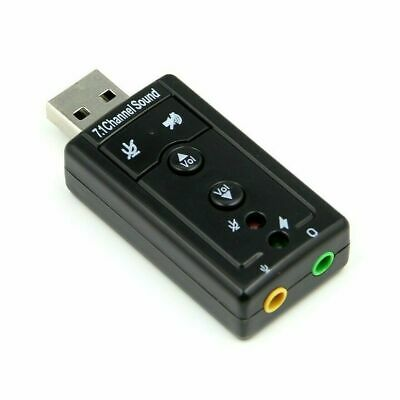 External Virtual USB 3D 7.1 Channels Stereo Sound Card Audio Adaptor Converter • 2.53£