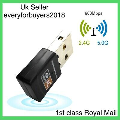 USB WiFi Dongle 802.11 AC 600Mbps Wireless Network Adapter For Laptop LAN Pc UK • 5.99£