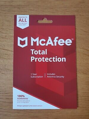 McAfee Total Protection 2020, 10 Multi-Devices, 1 Year (LATEST DOWNLOAD VERSION) • 7.49£