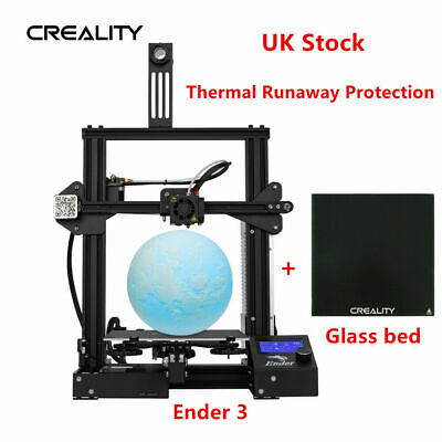 Creality Ender 3 3D Printer + Glass Bed 220X220X250mm Thermal Runaway Protection • 229£
